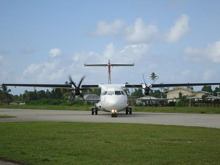 Plane, Tuvalu, Funafuti, Flight, Airstrip