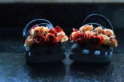 Crocks, Creative, Flowers