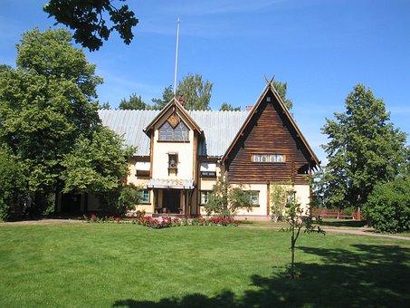 The Zorn Manor, Mora, Sweden, Summer, House, Grass