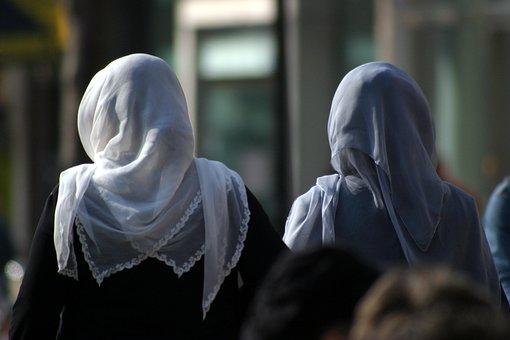Women, Headscarves, Street, Groningen