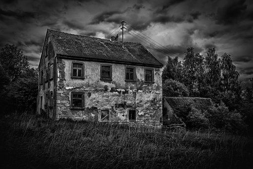 Ailing Mill, Uninhabited, Home, Black And White, Edited