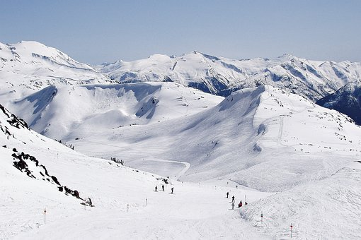 Blackcomb, Whistler, Mountain, Snow, Skiing