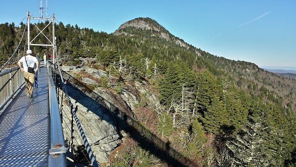 Mile High Bridge, Grandfather Mountain, Nature