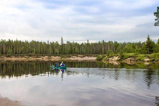 Karelia, Kareliya, North, Russia, Water, Nature, Sky