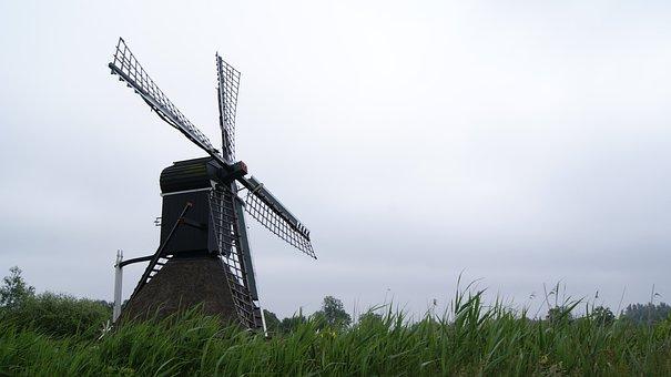 Spider Mill, Nature, Wind, Netherlands, Landscape