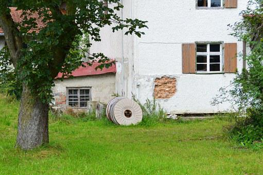 Mill, Millstone, Old, Romantic, Home, Facade, Window