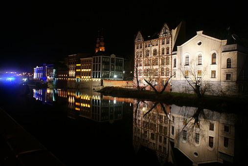 Opole, Opole Venice, Leat, Photo Night, Night