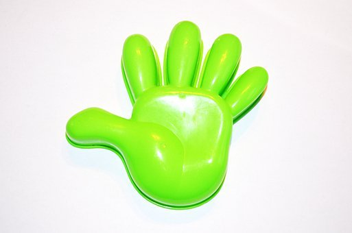 Model, Hand, Plastic, Palms, Inside, Green, Fingers