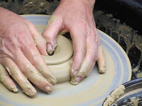 Pottery, Potter's Wheel, Crock