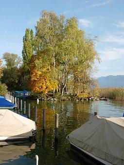 Rapperswil, Switzerland, Port, Lake, Lake Zurich