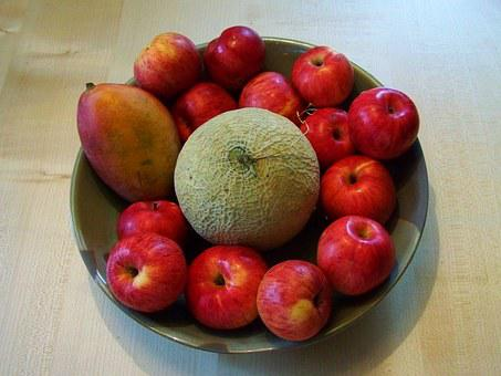 Fruit Bowl, Red Apples, Mixed Fruit