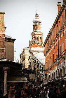Rialto Bridge, Stairs, Venice