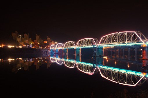 The Night Sky, Night View, River Photos, Reflect