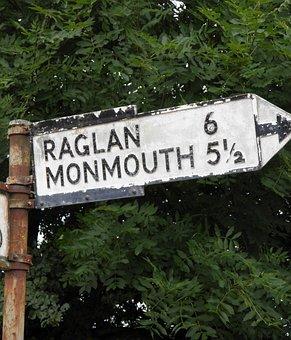 Road Sign, Directions, Vintage, Road, Sign