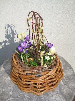 Flowers, Arrangement, Basket, Spring, Colorful, Easter