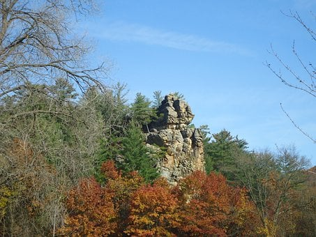 State Park, Governor Dodge's, Sky, Tree, Rock