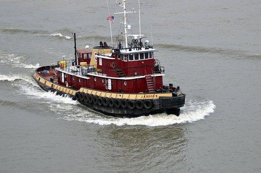 Tug, Boat, River, Boats, Mississippi River, New Orleans