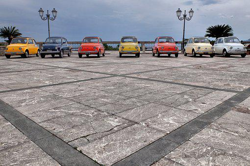 Sicily, Agro Forza, Fiat 500, Place, Colors