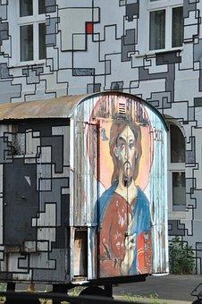 Street Art, Graffiti, Bauwagen, Düsseldorf, Art