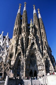 Spain, Barcelona, Temple Of The Holy Family, Monument