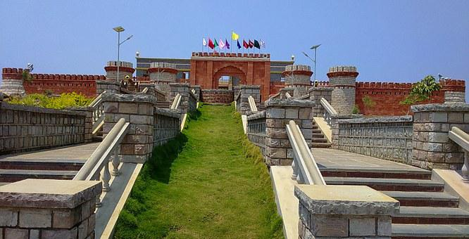 Fort, Wall, Entrance, Gate, Memorial, Building