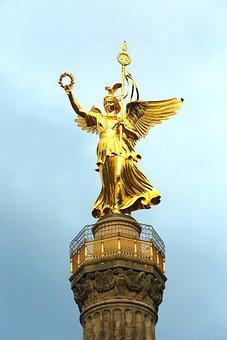 Berlin, Siegessäule, Capital, Places Of Interest