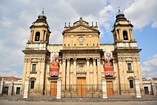 Park, Central, City, Guatemala, Church, Cathedral
