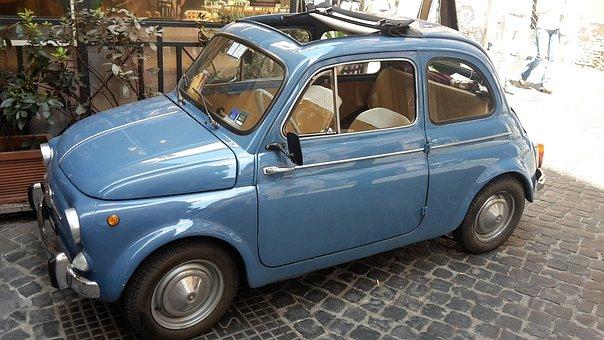 Roma, Cinquecento, Auto, Fiat 500, Classic, Oldtimer