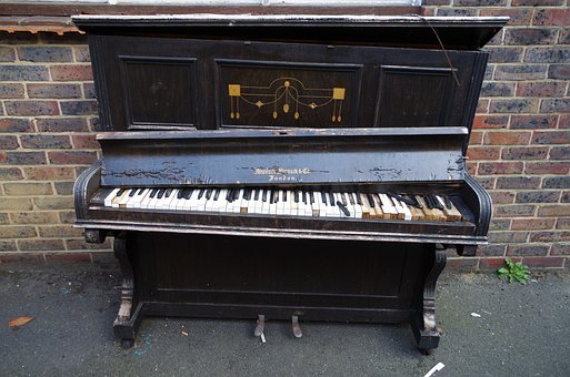 Piano, Keyboard Instrument, Damage, Damaged, Broken