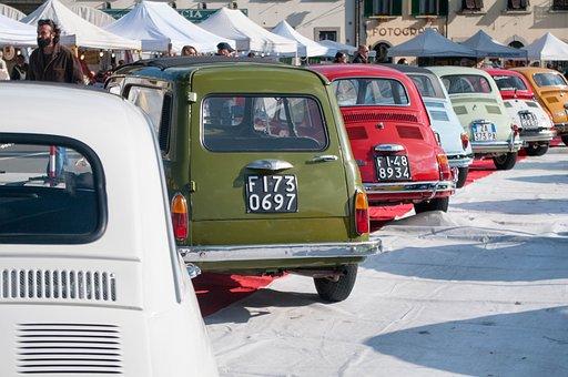 Fiat, 500, Vintage, Barberino, Car, Classic