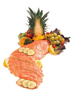Salmon, Smoked, Ice, Fresh, Fish, Meat, Article, Raw