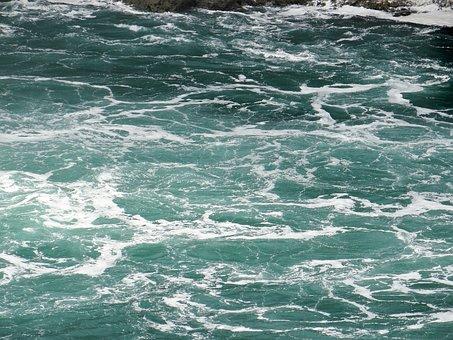 Water, Bottom, Niagara Falls, Flowing Down, Nature