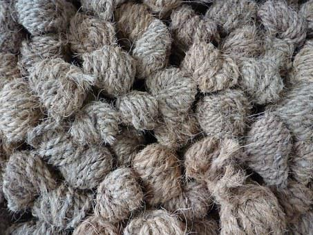 Ropes, Hemp, Wrapped, Stack, Texture, Grey, Sisal, Pile