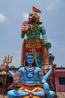 Statue, Temple, Hanuman, Monkey-god
