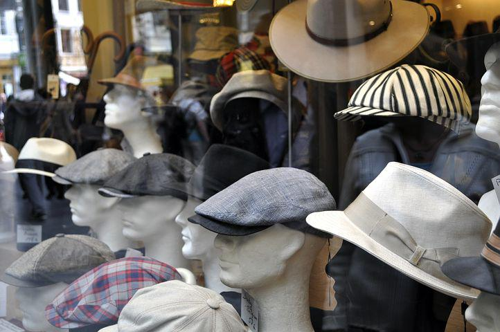 Hat, Shop Window, Shopping, Fashion, Men, Window