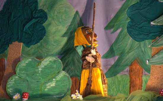 The Witch, Puppet Theatre, Hexenbesen, Doll