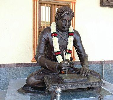 Statue, Poet, Saint, Literature, Ancient, Kannada