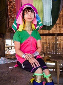 Giraffe Women, Kayan People, Burma, Thailand, Long Neck