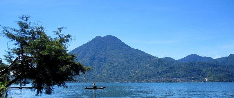 Lake Atitlan, Guatemala, Lake, Indian, Fishing, Volcano