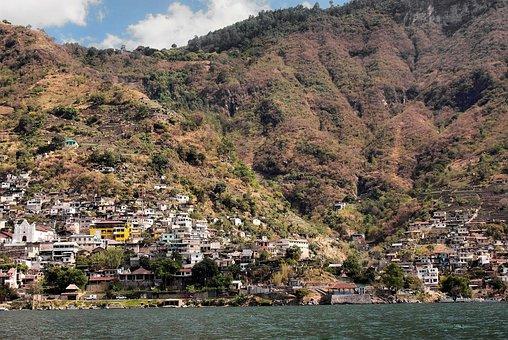 Guatemala, Atitlan, San Antonio, Lake, Village, Volcano