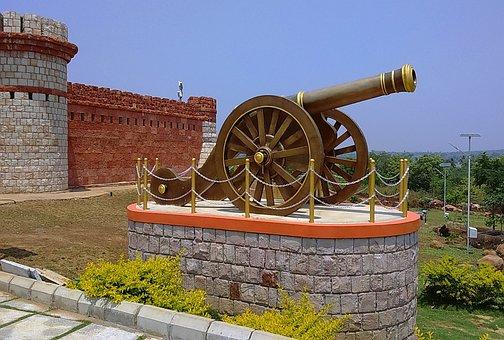 Canon, Memorial, Fort, Building, Architecture