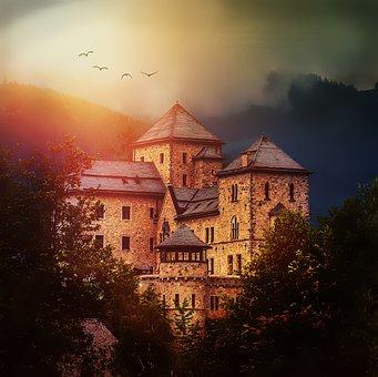 Castle, Bruck, Castle Walls, Fortress, Middle Ages