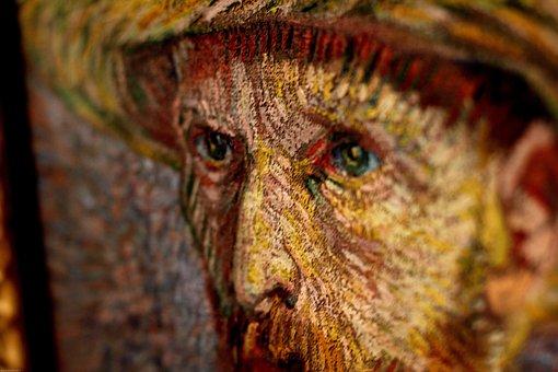 Van Gogh, Paint, Painting, Eyes, Van, Gogh, Painter
