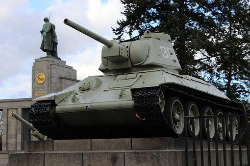 Berlin, Tank, Monument, Soviet Soldaers, Memory