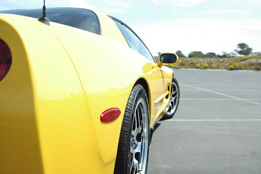 Sports Car, Corvette, Car, Z06, Yellow Car