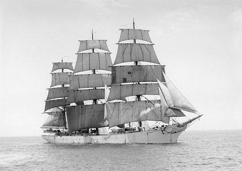 Sailing Vessel, Three Masted, Ship, G D Kennedy