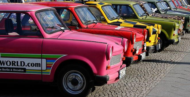 Berlin, Trabant, Trabi, Car, Germany, Colors