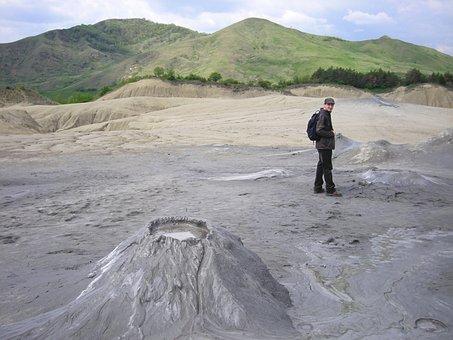 Clay Volcano, Sludge, Travel, Wild Nature, Mountain