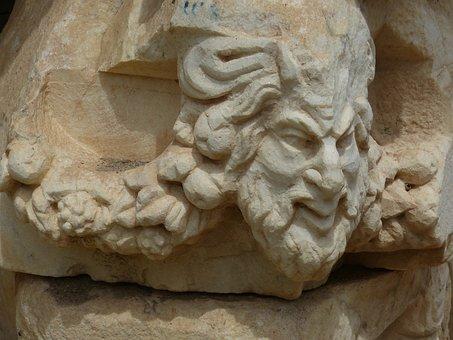 Aphrodisias, Head, Face, Turkey, Excavation, Antique