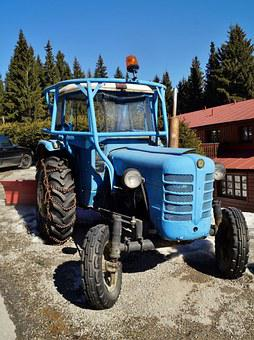 Tractor, Zetor, Oldtimer, Old, Work, Wheels
